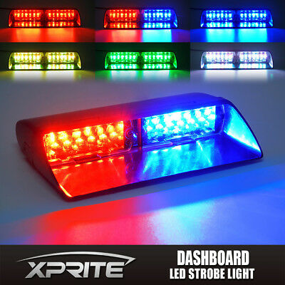 Vehicle Windshield Dashboard Deck Mount Rgb Led Emergency Flash Strobe Light