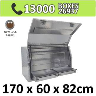 Aluminium Toolbox Side with Built in 2 Drawers Ute 1768FD-2