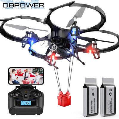 DBPOWER Drone U818A FPV LED Drones with 720P WI-FI Camera RC Upgrade Quadcotper