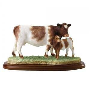 Border Fine Arts Farming Today Beef Shorthorn Cow & Calf Figurine BNIB A28332