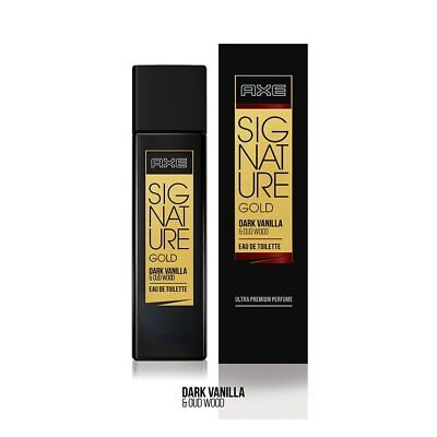 AXE Signature Gold Dark Vanilla & Oud Wood Perfume, 80 ml original fre ship
