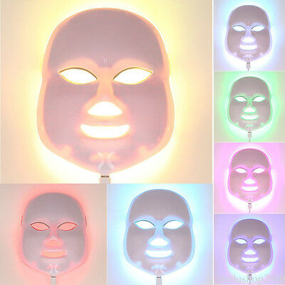 2017 New Therapy Photon LED Facial Mask 7 Color Light Skin Care Rejuvenation P0H