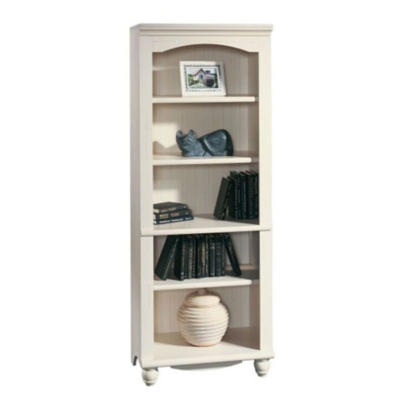 Sauder Harbor View Bookcase - Antique White, White