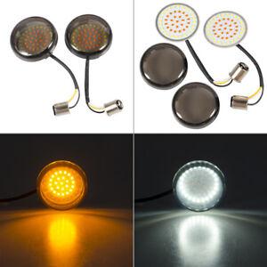 2X Smoke Lens Turn Signal LED Bullet Blinker Indicator Light for Harley-Davidson