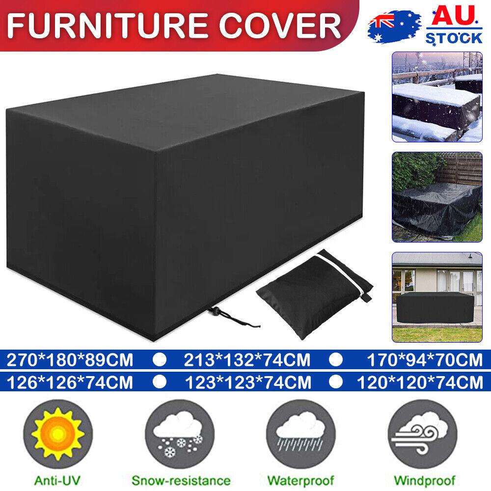 Garden Furniture - AU Waterproof Outdoor Furniture Cover Garden Patio Rain UV Table Protector Chair
