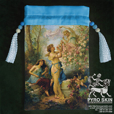 """Venus with Putti  and Attendant""  silk bag for Tarot or any magical accessories"