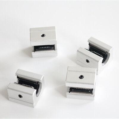 4 Pcs Sbr12uu Aluminum Open Linear Motion Bearing Slide Block For Linear Rail