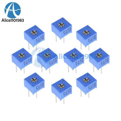 10pcs 3362p-105 1m Ohm High Precision Variable Resistor Potentiometer 3362 P