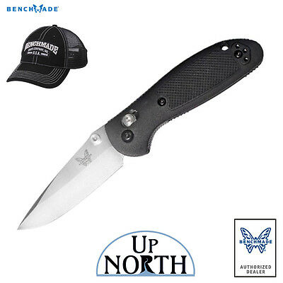 - Benchmade 556 Mini Griptilian Knife Black Handle Drop Point S30V Blade FREE HAT
