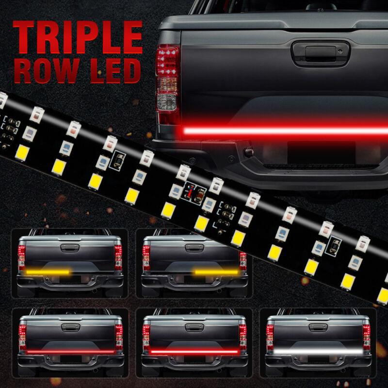 "6 Modes 432LED Truck Strip Tailgate Light Bar 3Row Reverse Brake Signal Tail 60"""