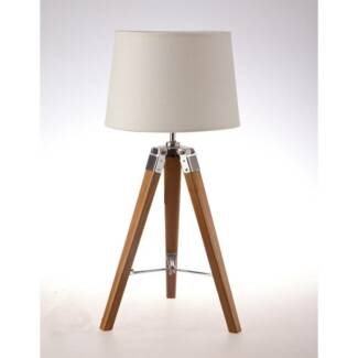 tripod table lamp natural