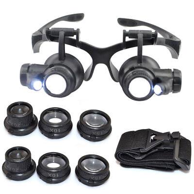 Magnifier Glasses Led For Locksmith Lock Set Pick Picking Goldsmith Clic Nose