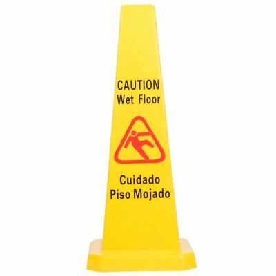 10 Pack Restaurant Caution Wet Mop Bucket Floor Yellow 27 Cone Sign Commercial
