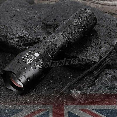 8000LM T6 Police LED Zoomable Flashlight Waterproof Torch Light Lamp 18650 AAA