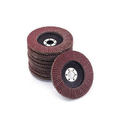 10pcs 100mm 4 Flap Sanding Disc Metal Grinding Wheel For Angle Grinder 240 Grit