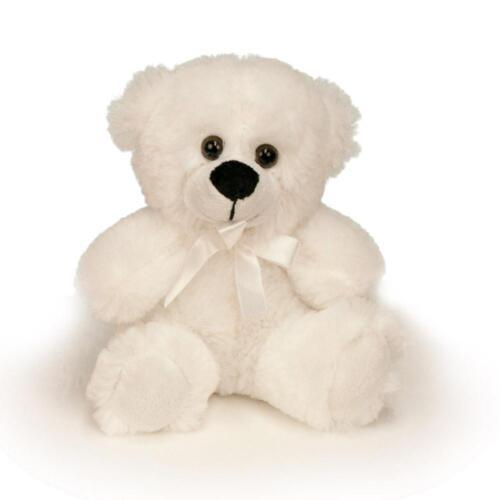 "6"" White Plush Teddy Bear Stuffed Animal Toy Gift New"