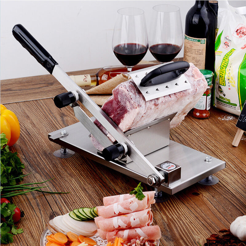 NEW Manual Frozen Meat Slicer Stainless Steel Mutton Beef Cutter Cutting Machine