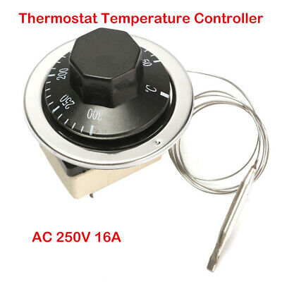 Electric Oven Thermostat Replacement Kit Temperature Control Switch 16a 50-300