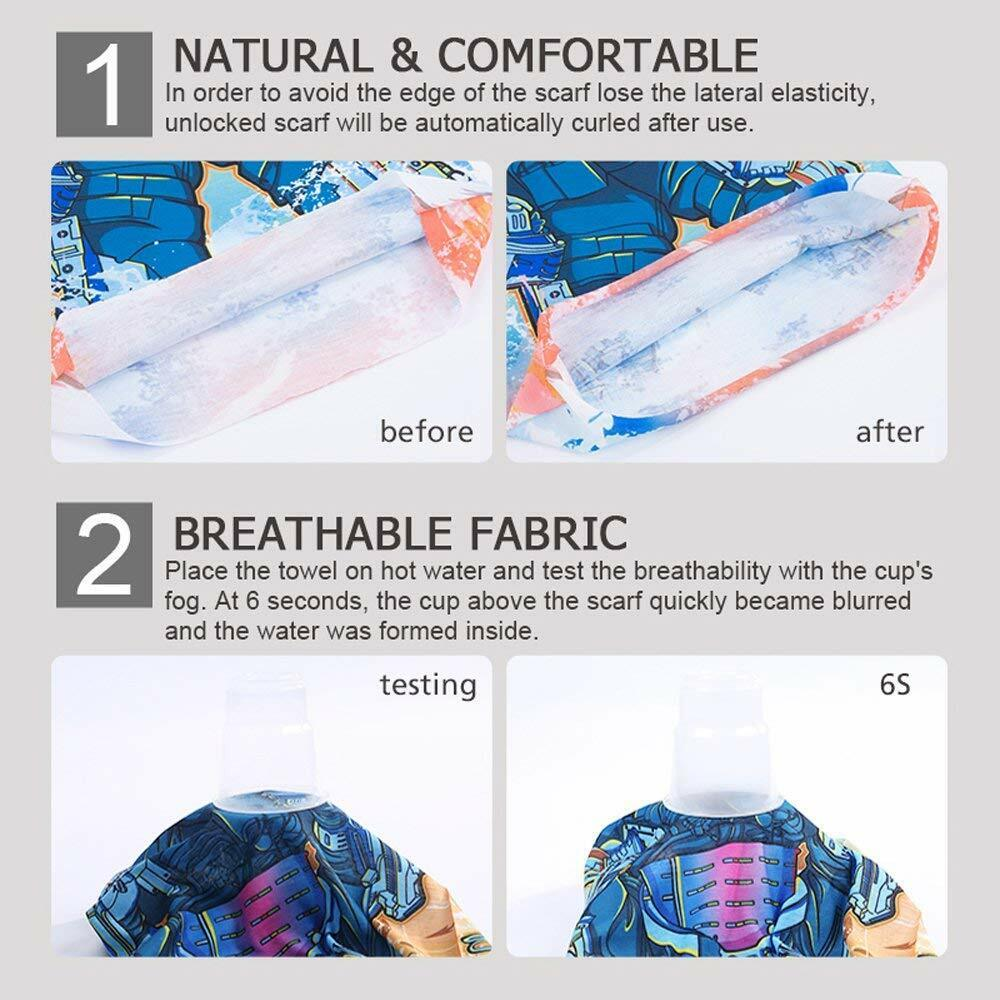 Multifunction Bandana Balaclava Face Cover Mask Sun UV Shield Neck Gaiter Scarf Clothing, Shoes & Accessories