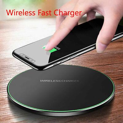 Qi-Certified Charger Wireless LED Pad 10 Watt Fast Charging Mat Disc USB Plug ()
