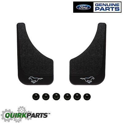 Mud Pony (1994-2014 Ford Mustang Mud Flaps Splash Guards Front Or Rear Pony Black OEM)