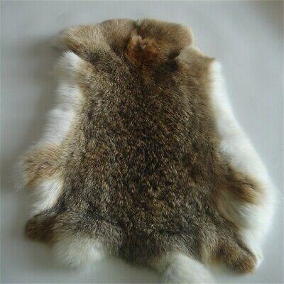 Genuine Naturally Rabbit Fur Skin Tanned Ocelot Leather Hides Craft Pelt 9-14'' Genuine Rabbit Fur