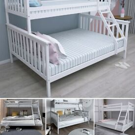 Sale on Brand New Furniture-Kids Bed New Single and Trio Wooden Bunk Bed