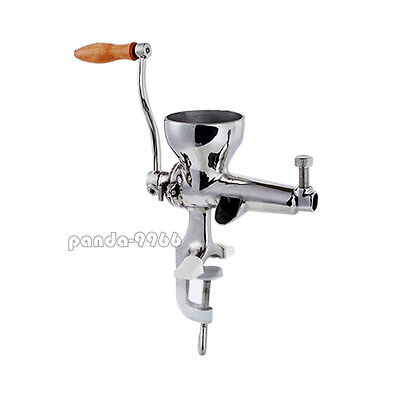 Stainless Steel Manual Wheat Grass Leafy Vegetables Fruit Juicer Hand Crank New