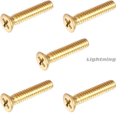 6-32 X 34 Solid Brass Machine Screws Flat Head Phillips Drive Quantity 50