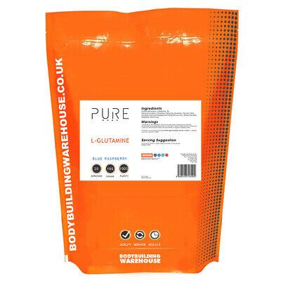 Reines Glutamin Pulver Aminosäuren | 100% GLUTAMIN 100g Blaue Himbeere - Reines Glutamin Pulver