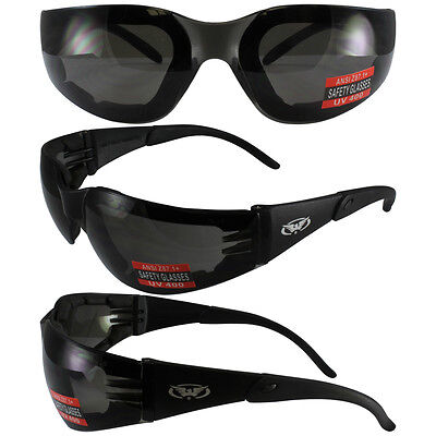 2 MOTORCYCLE RIDING GLASSES DAY AND NIGHT SMOKE CLEAR (Day And Night Motorcycle Glasses)