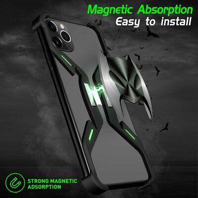 For iPhone 11 Pro Max Bat Man Metal Aluminum Hard Case Luminous Magnetic Cover