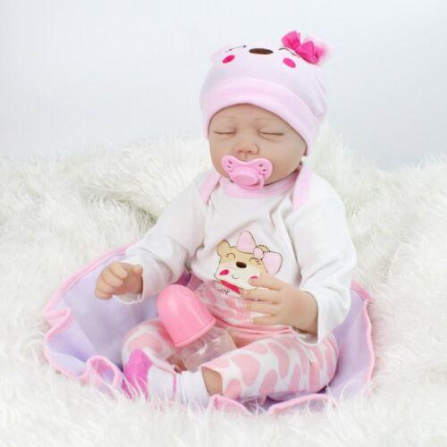 "22"" Reborn Gift Baby Dolls Lifelike Newborn Silicone Vinyl Handmade Full Body US"