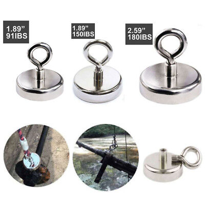 Us Fishing Magnet Hook Strong Magnetic Round Thick Tool 91150180lbs
