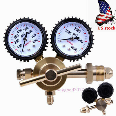 Us Cga580 0-800psi Connection Nitrogen Regulator Equipment Tool With Barometer