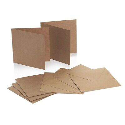 Creased Kraft Card Blanks with Recycled Kraft Envelopes 6x6 Pck 25 by Cranberry