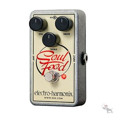 Electro Harmonix Soul Food Distortion Fuzz Overdrive Guitar Effects Pedal