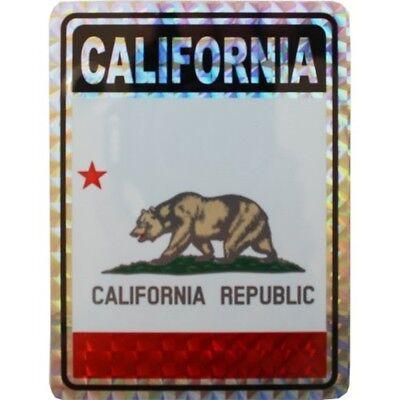 State Flag Bumper Sticker - State of California Flag Reflective Decal Bumper Sticker