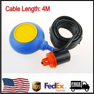 1pc 4m Cable Water Level Float Switch Sensor Sump Fluid Tank Nonc Controller