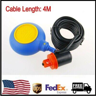 1pcs 4m Cable Water Level Float Switch Sensor Sump Fluid Tank Nonc Controlle