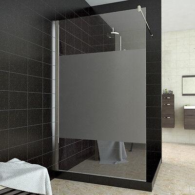 Duschkabine Walk in Dusche 140x200cm Duschwand Duschabtrennung Satiniert NANO