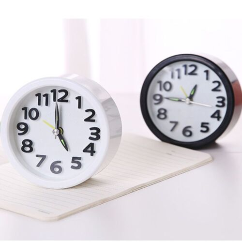 Cute Mute Students Children's Bedside Round ABS Fashion Alarm Clock