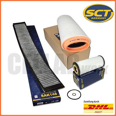 Luftfilter Pollenfilter Aktivkohle Longlife-Ölfilter BMW 3er E46 318 320d X3 E83