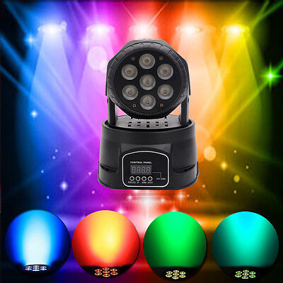 100W RGBW 7 LED 4-in-1 Moving Head Light DMX-512 DJ Disco Stage Party Lighting