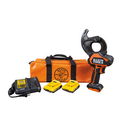 New Klein Tools Bat20-g1 20v Battery-operated Closed-jaw Cable Cutter For Acsr