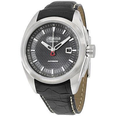 Alpina Nightlife Club Grey Dial Black Leather Strap Men's Watch AL525B4RC6