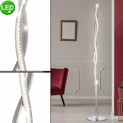 LED Cristal Techo Salón Habitación Ondas Lámpara de Pie Efecto Láminas Lámpara
