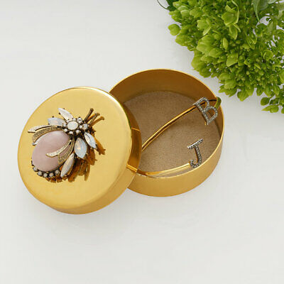 Joanna Buchanan Gold Trinket Box - Vintage Bug