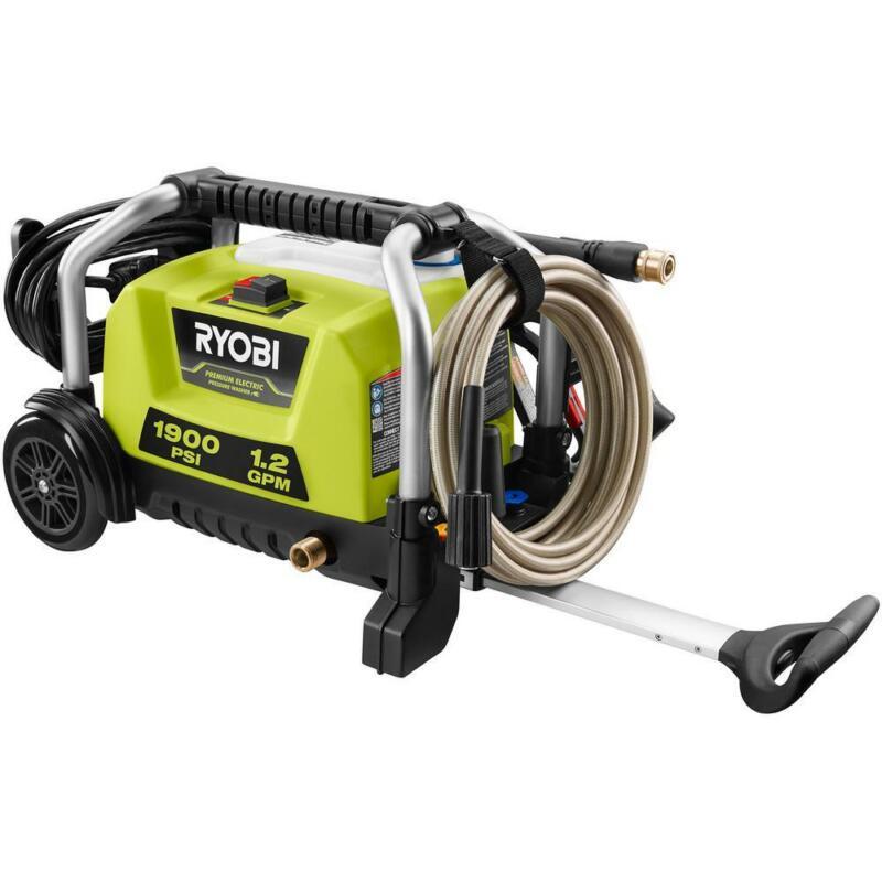 RYOBI 1900 PSI 1.2 GPM Cold Water Wheeled Electric Pressure Washer
