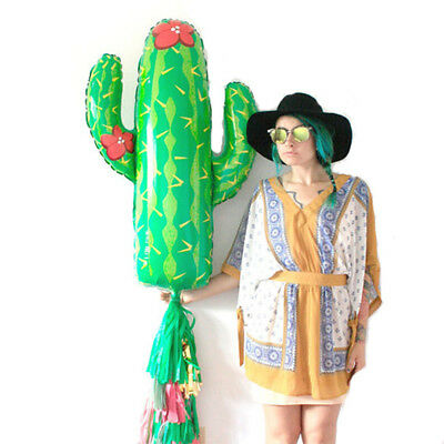 Large Cactus Shape Foil Balloon Birthday Wedding Party Decor Take Photo Supplies - Cactus Balloon